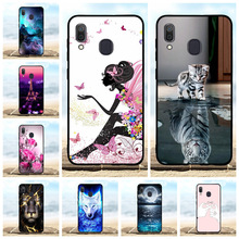 For Samsung Galaxy A20 A30 Cover TPU SM-A205F Case Girl Patterned SM-A305F Shell