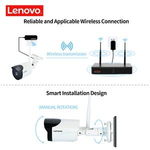 Image 2 - Lenovo 4ch array hd câmera sem fio vigilância, residencial, sistema dvr, 1080p cctv, wi fi, full hd nvr kit de vigilância avaliado