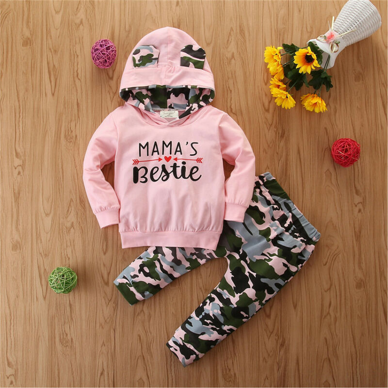 Pudcoco Winter Autumn Toddler Kid Baby Girl Hoodie Top Long Pants Legging Outfit Clothes 2020 New Fashion Tracksuit 3
