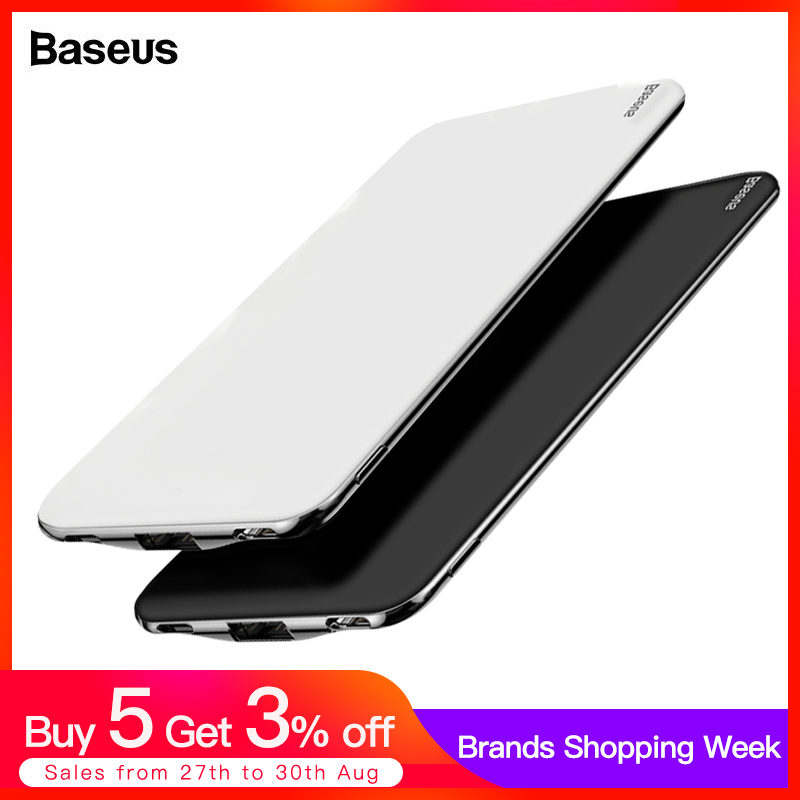 Baseus Power-Bank External-Battery-Charger Usb Type-C Mah IPhone Xiaomi 10000mah Portable