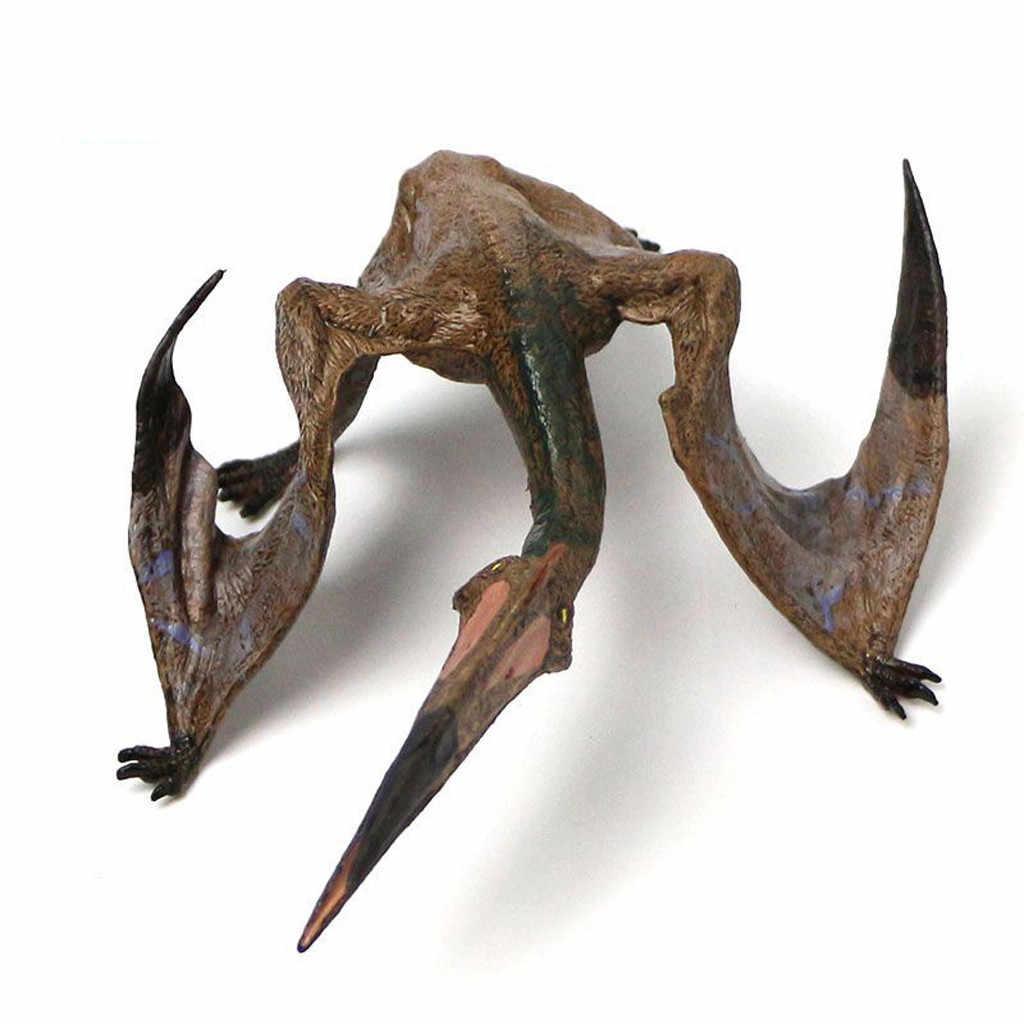 Jurajski dzikie życie symulowane pterozaura zabawka zestaw z tworzywa sztucznego zabawki dla dzieci Park świata dinozaur Model figurki dzieci chłopiec prezent