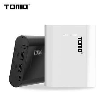 TOMO P4 18650 Charger Power bank case lithium battery smart charger storage box LED indicator Dual USB output ports