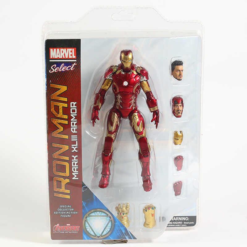 Marvel wybierz Iron Man MK43 Mark XLIII pancerz figurka zabawka lalka Brinquedos figurki Model kolekcjonerski prezent