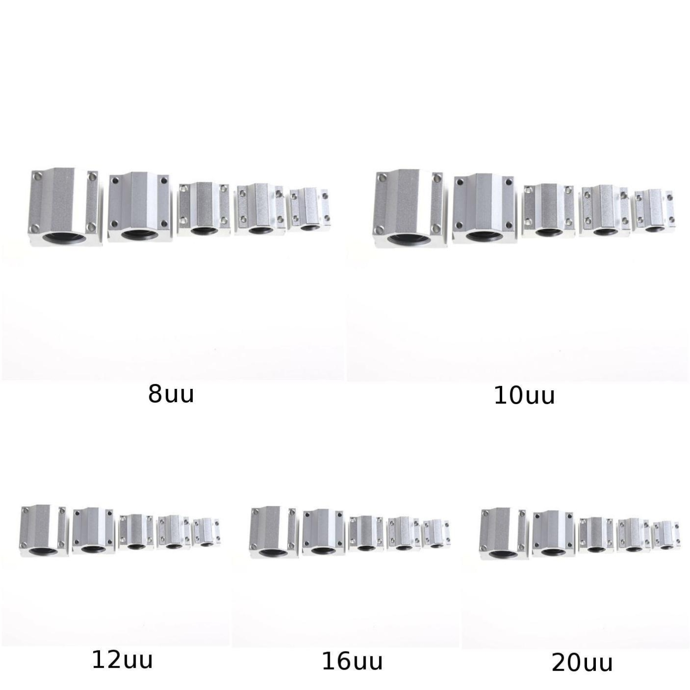 SC8UU-SCS20UU 8-20mm Linear Motion Ball Bearing Machinery Slide BushingS!