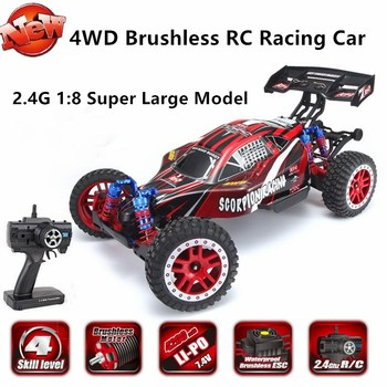 4WD Brushless Remote Control Racing Car 2.4G 1:8 Super Large Model 60KM/H 25mins Long Battery Life High Speed RC Car Model Toy image