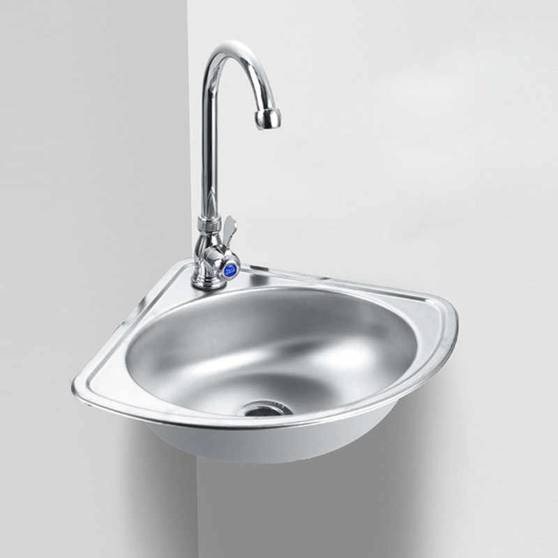 Stainless Steel Triangle Basin Corner Wall Mounted Kitchen Vegetable Washing Sink Single Bowl Bathroom Wash Basins Mx9091004 Kitchen Sinks Aliexpress