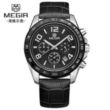 купить Mens Watches Top Luxury Brand Fashion Sport Men's Wristwatch Leather Quartz Military Watch Men Dispaly Date Week Clock по цене 1385.99 рублей