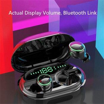 Auriculares Bluetooth auriculares inalámbricos TWS estéreo HiFi reducción de ruido deporte impermeable IPX8 auriculares con micrófono