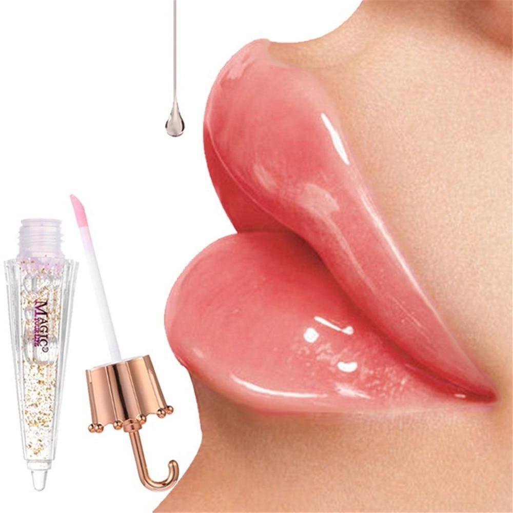 Umbrella Color Changing Clear Liquid Lipgloss Waterproof Long Lasting Big Lips Moisturizer Luxury Lip Gloss Transparent Makeup