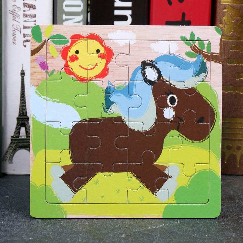 Wood Puzzles Children Adults Vehicle Puzzles Wooden Toys Learning Education Environmental Assemble Toy Educational Games 28