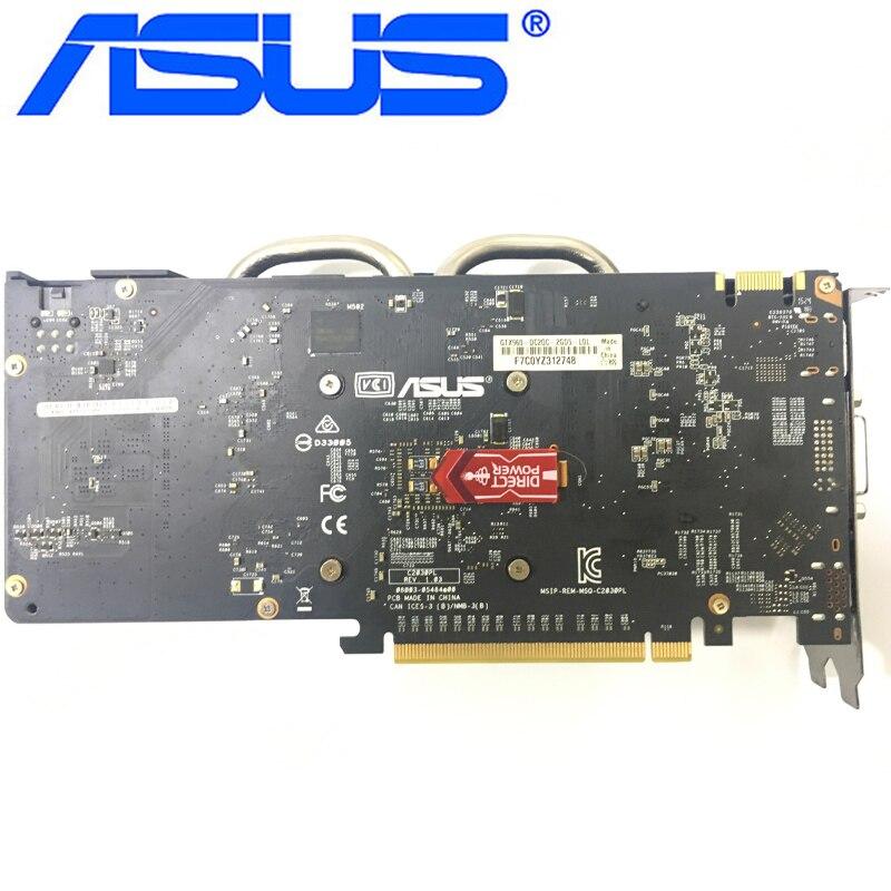 Видеокарта ASUS GTX 960 бывшая в употреблении, 128-битные видеокарты с памятью GDDR5 2 ГБ, выходами VGA и HDMI и поддержкой процессоров nVIDIA Geforce GTX960, GTX 750, Ti 950, 1050, 1060-3