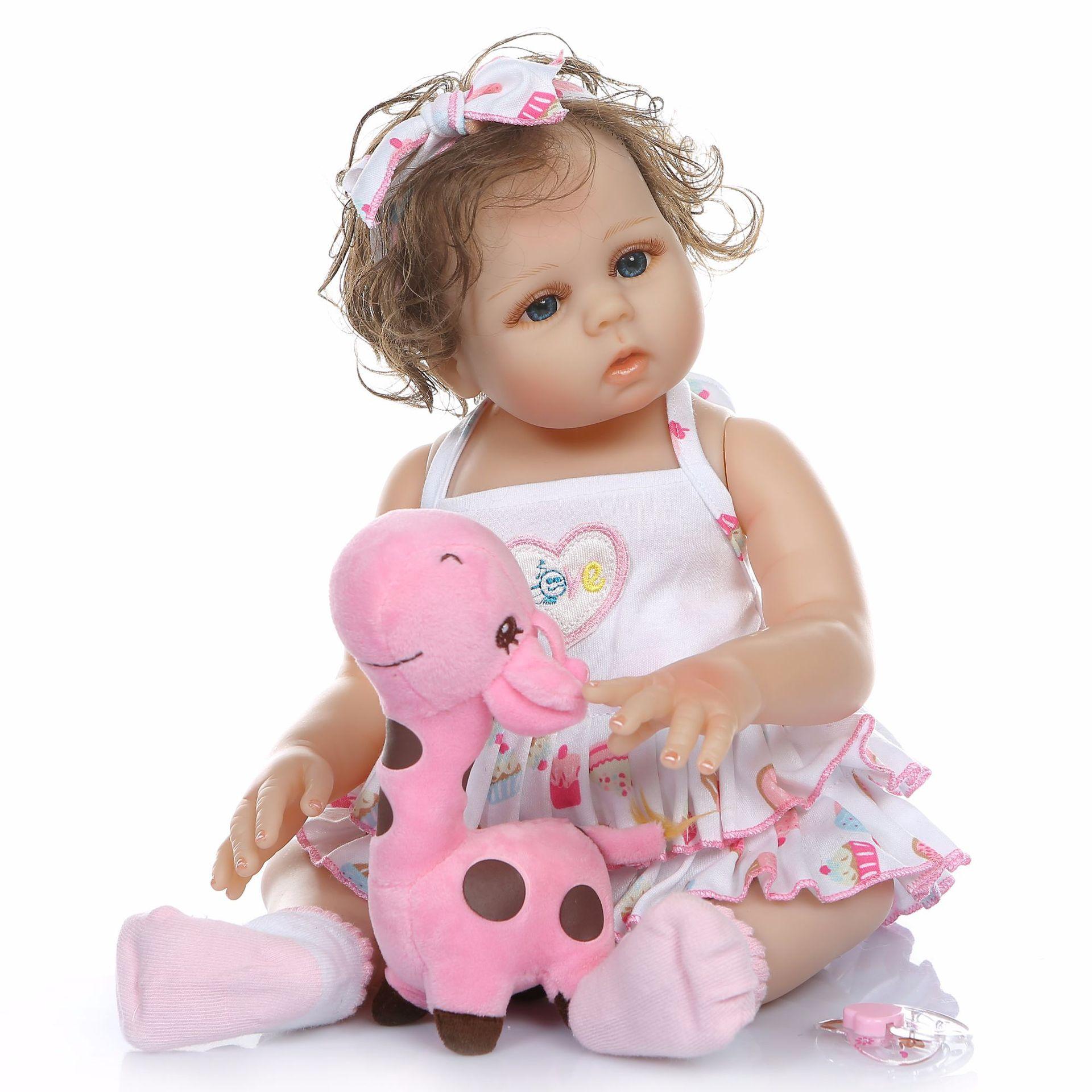 NPK Model Infant Full Rubber Doll Cute Facial Form-Bath Silicone Toy GIRL'S Birthday Gift