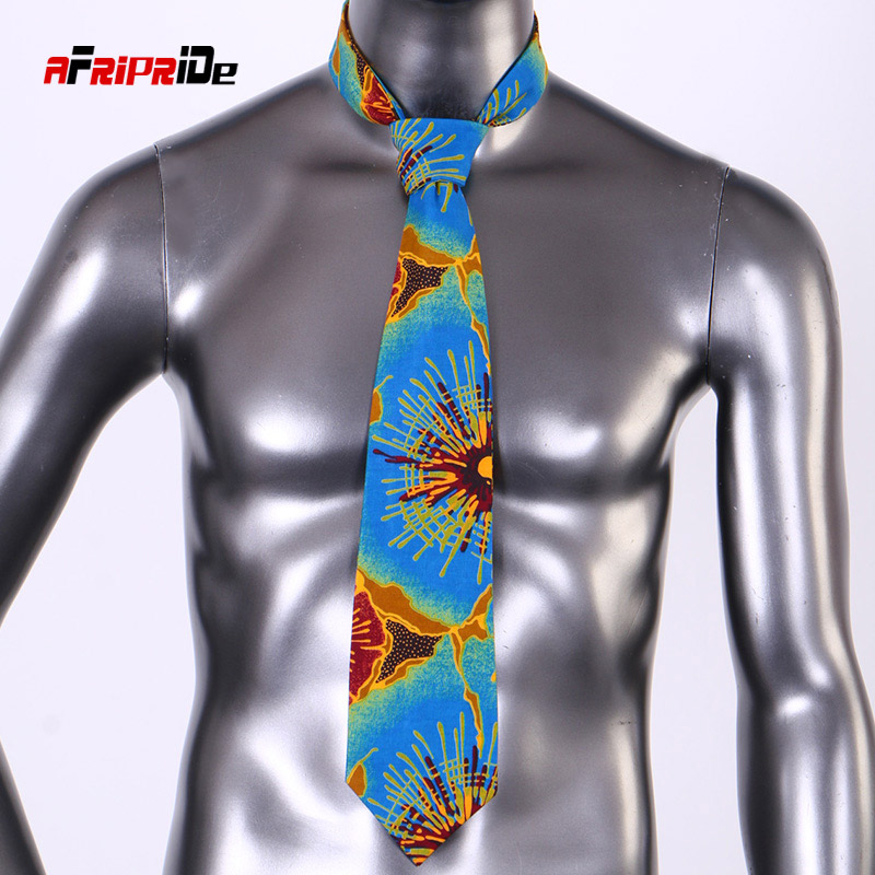 2020 African Print Tie For Men Bohemia African Cotton Print Fabric Gifts For Men African Traditional Men Fake Collar SP129