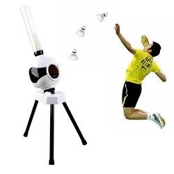 Badminton Server maschine Tragbare Automatische Portion Accompanier Badminton Anfänger Praxis starten Dienen kostenlos versand