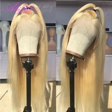 Парик Abijale 613 блонд, парик из человеческих волос на сетке спереди, бразильский парик с предварительно выщипанными волосами, прямые парики на ...
