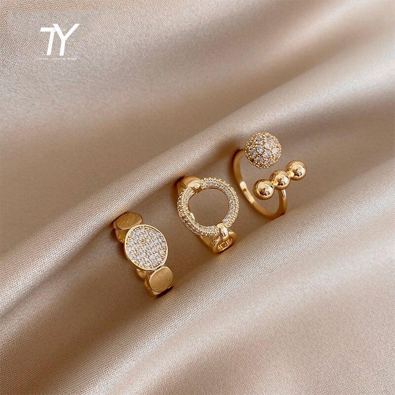 2020 novo clássico zircão círculo aberto anel para mulher sexy dedo acessórios moda coreano jóias festa de casamento anéis incomuns
