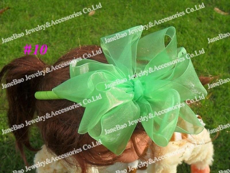 160 шт 5,5 дюйма большие повязки на голову из органзы Цветочные банты для волос для девочек аксессуары для волос популярные заколки для волос