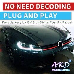 AKD автомобильный Стайлинг для VW Golf 7 MK7 GTI 2013-2017 светодиодный фонарь Golf7.5 оригинальный DRL Hid динамический сигнал головная лампа Bi Xenon Beam