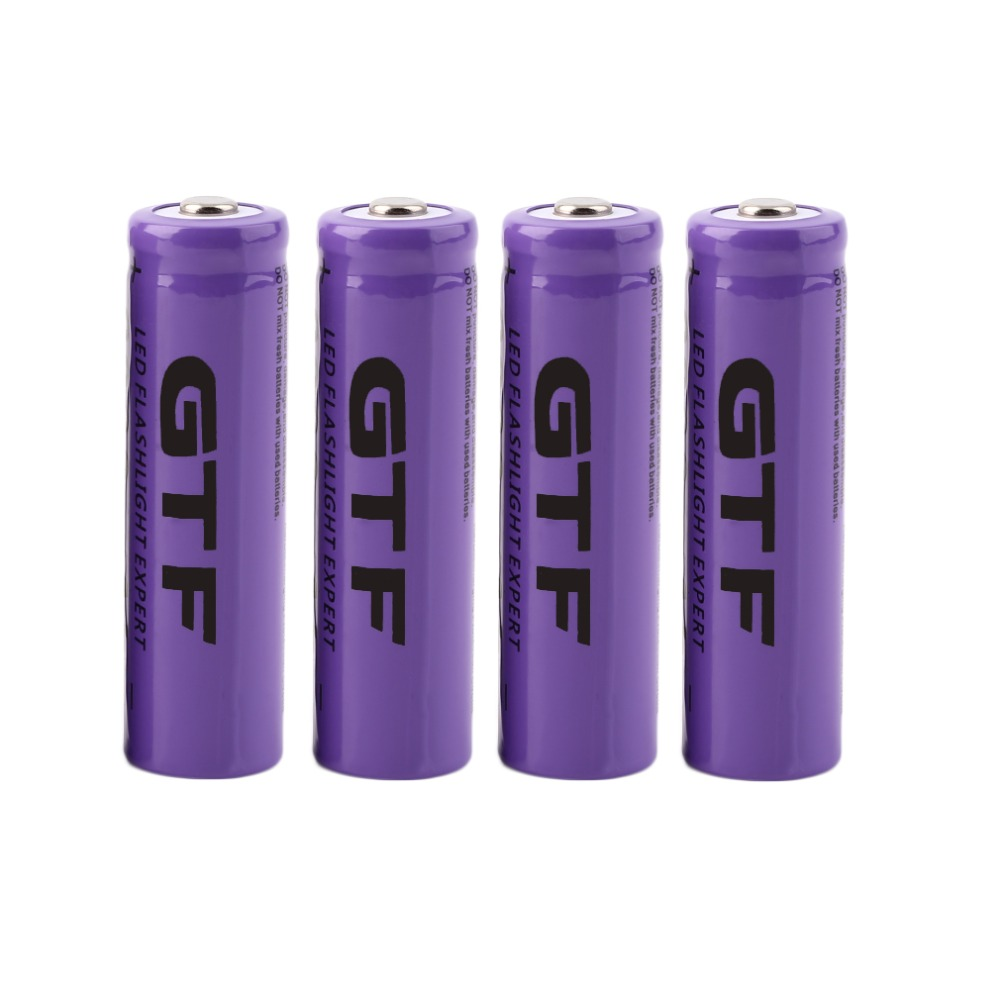 High capacitance 4 pcs/set 14500 battery 3.7V 2300mAh rechargeable liion battery for Led flashlight batery litio battery Brand image