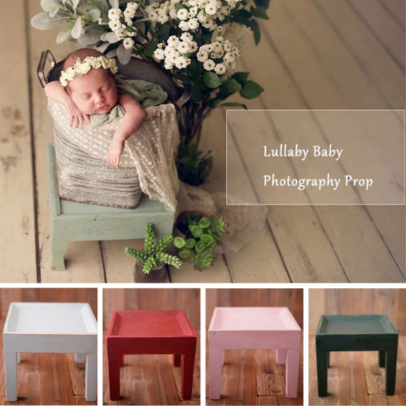 Newborn Photography Props Mini Wooden Bench Baby Photo Decorations Do Old Creative Props Full-moon Baby Shoot Accessories