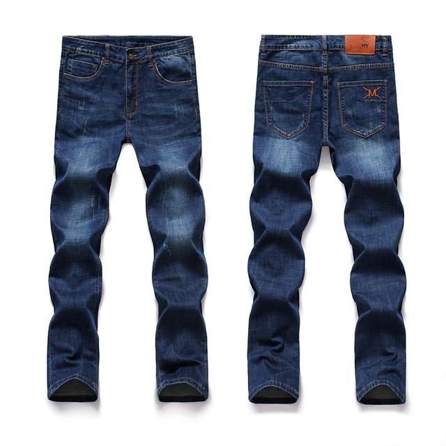 Classic Straight Denim Jeans Men color: Blue