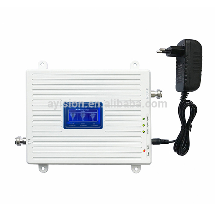 Hot Sales Tri Band 900 / 2100 / 2600 Booster Mobile Signal Booster, View Mobile Signal Booster, Ayision/oem Product Details