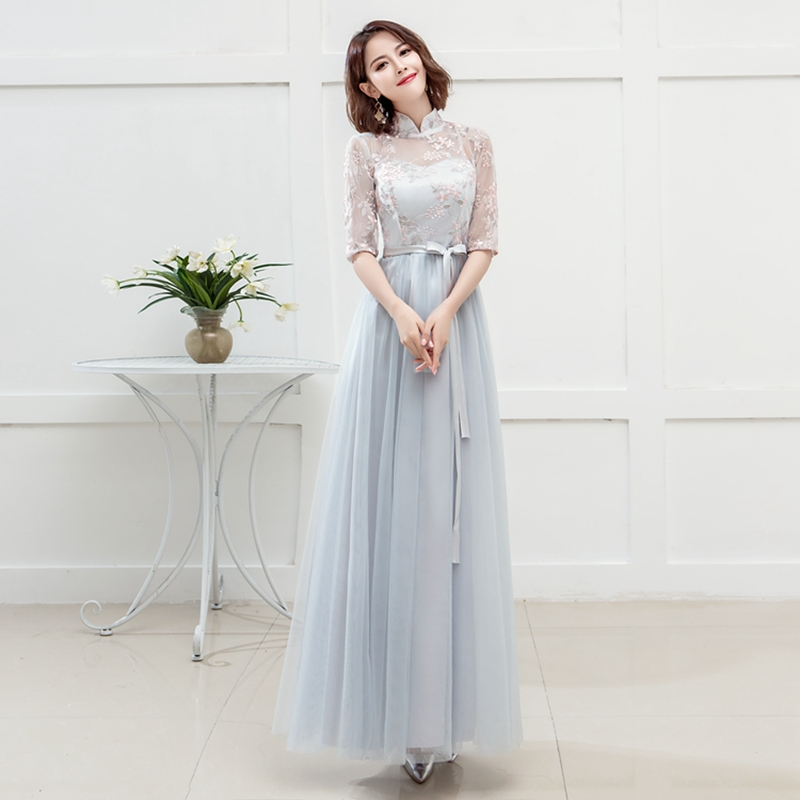 Gary Plus Size Junior Bridesmaids Dresses Elegant Wedding Party Graduation Floor-Length Long Prom Dress Simple Sexy Prom Vestido