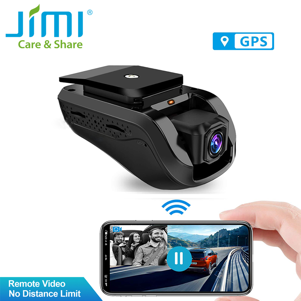 <font><b>Jimi</b></font> <font><b>JC100</b></font> 3G Vehicle Track Dual Dash Cam WIFI Live Stream Video Tracking & Monitor by APP Loop Record Car Alarm with Google Map image