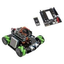Hot DIY Hindernis Vermeidung Smart Programmierbare Roboter Auto Pädagogisches Spielzeug Lernen Kit Mit Mecanum Räder Für Arduino UNO-Set D