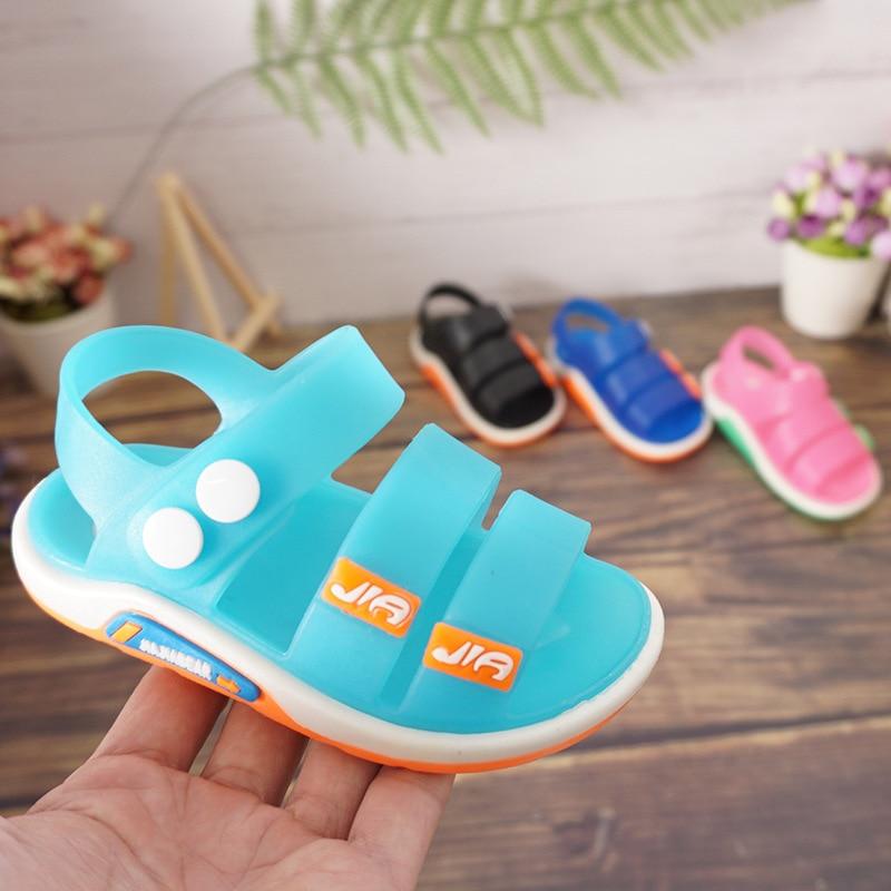 2020 Kids Sandals Girls Sandlas Summer Toddler Boys Beach Shoes Baby Soft Pvc Breathable Comfortable Children Male Jelly Sandals
