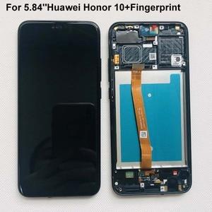 Image 2 - Plein Original nouveau pour Huawei Honor 10 COL L29 écran LCD + écran tactile numériseur assemblée remplacement + empreinte digitale + cadre 5.84