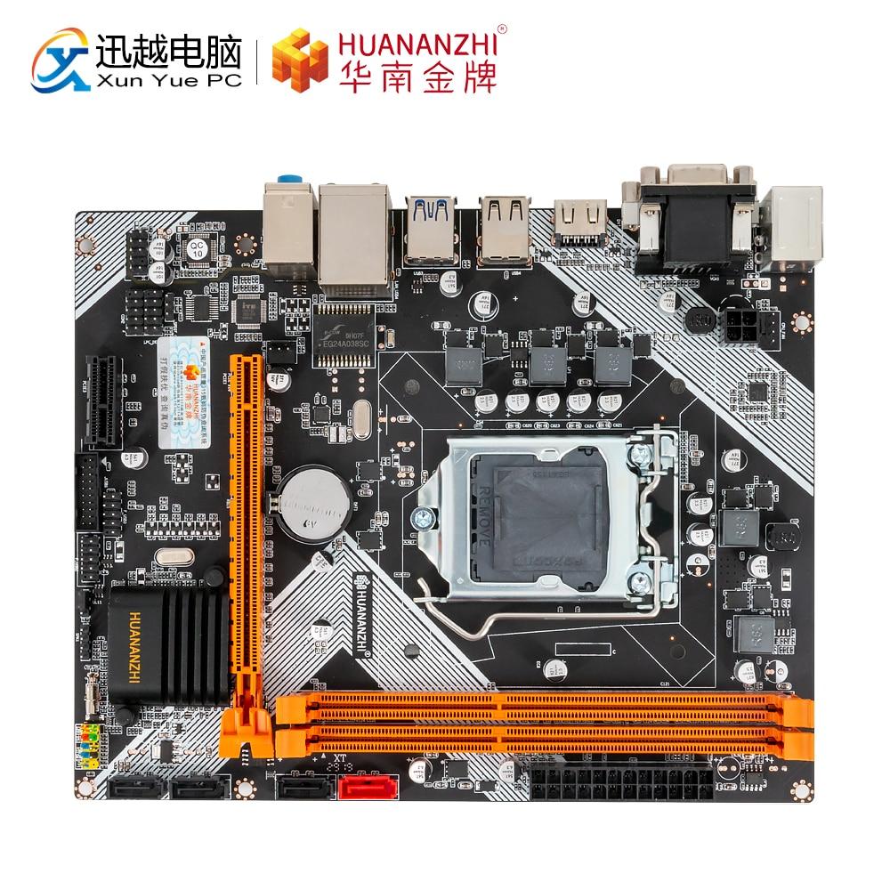HUANAN ZHI B75 M ATX Motherboard B75 For Intel LGA 1155 i3 i5 i7 E3 DDR3 1333/1600MHz 16GB SATA3.0 USB3.0 PCI E VGA HDMI-in Motherboards from Computer & Office