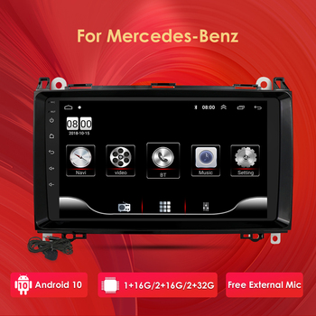 2+32 4GWIFI Car Multimedia Player Android 10 2 Din GPS Autoradio For Mercedes Benz B W245 B150 B160 B170 B180 B200 B55 2004-2012 image