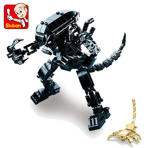 SLUBAN 0720 Star Wars Alien Predator Jungle Hunter Action Building Blocks Brick Compatible something Toys For Children