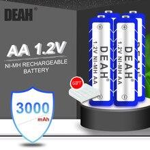 DEAH – Batteries rechargeables Ni-MH 1.2V, 3000MAH, préchargées, pour lampe de poche, télécommande, appareil photo, 4 à 20 pièces, nouvelle collection