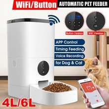 [Video/WiFi/Button Version] 4L/6L Automatic Pet Feeder Smart Cat Dog Food Dispenser Remote Control APP Timer