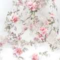 H717 90*140cm Organza Fabric Soluble Shabby Lace for Dress,Wedding Flower Fabric Embroidered Diy Handmade Sewing Supplies Crafts