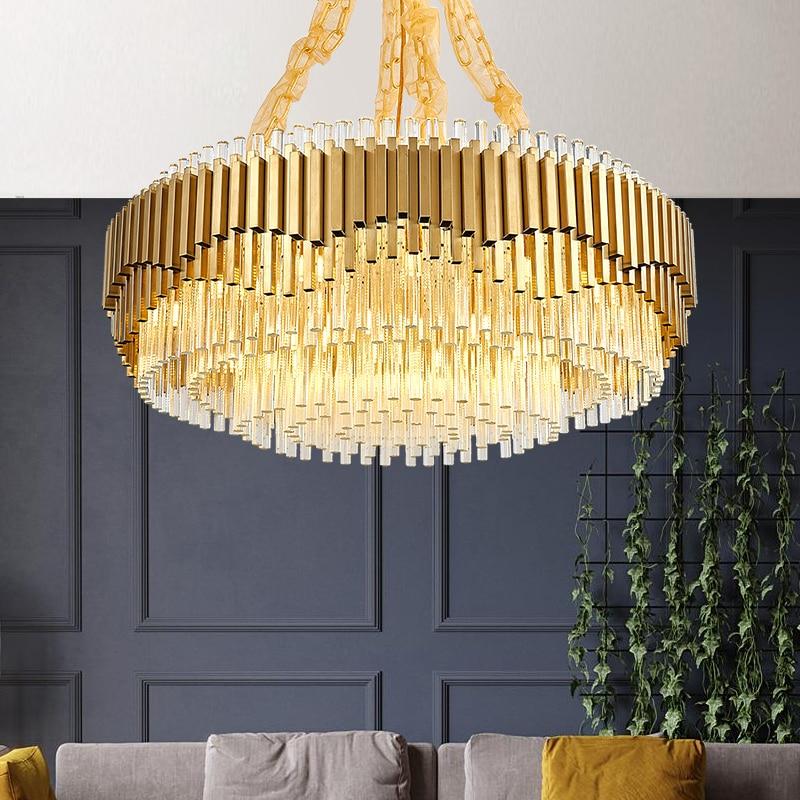 Post-modern Crystal Chandelier Light Luxury Creative Nordic Personality Simple Living Room Bedroom Dining Room High-grade