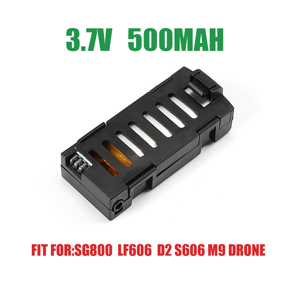 <font><b>Battery</b></font> for SG800 LF606 D2 S606 M9 <font><b>Drone</b></font> <font><b>3.7V</b></font> <font><b>500mAh</b></font> <font><b>Lipo</b></font> <font><b>Battery</b></font> Rechargeable Design <font><b>Battery</b></font> image