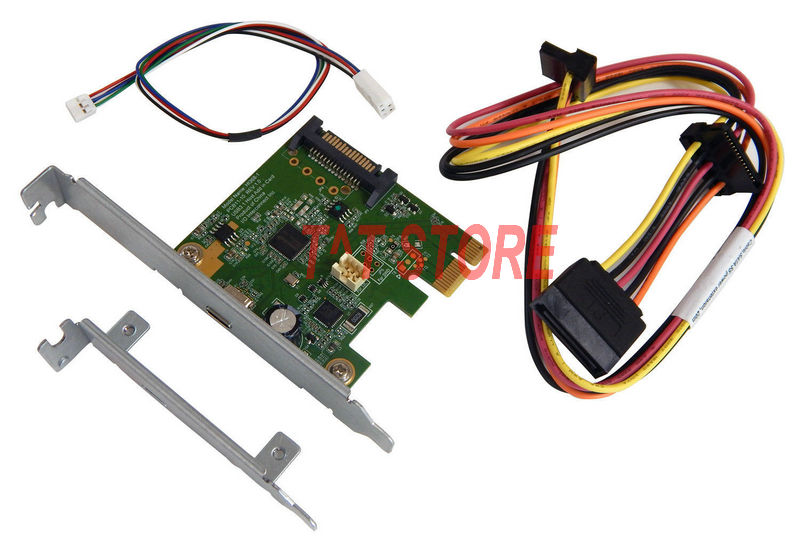 original New for HP <font><b>USB</b></font> <font><b>3.1</b></font> TypeCx1 <font><b>PCIe</b></font> <font><b>x1</b></font> Card Kit New 821128-001 HI368-1 Inc. LP bracket and Cables test good free shipping image