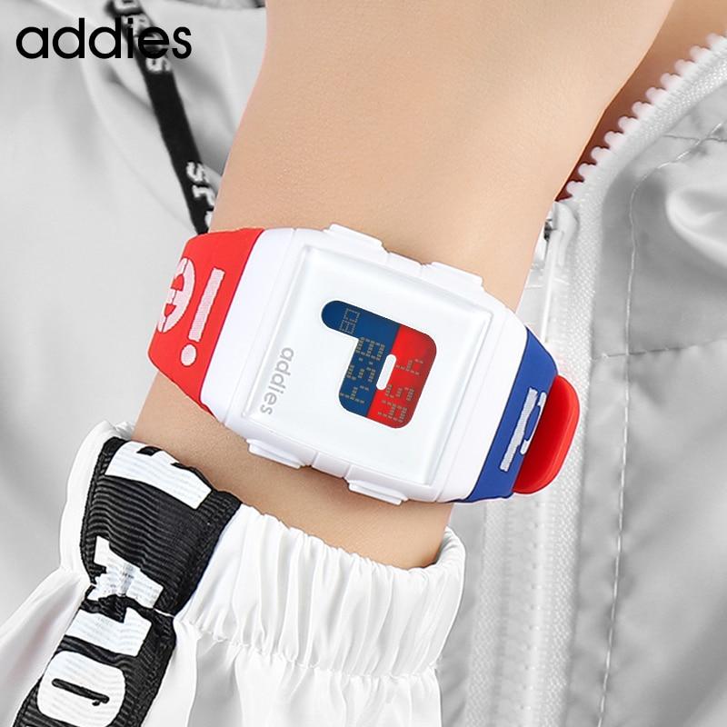2020 Addies Sport Watches 50M Waterproof Electronic Wristwatch Stop Watch Clock Children Boys Girls KidsWaterproof Wristwatch