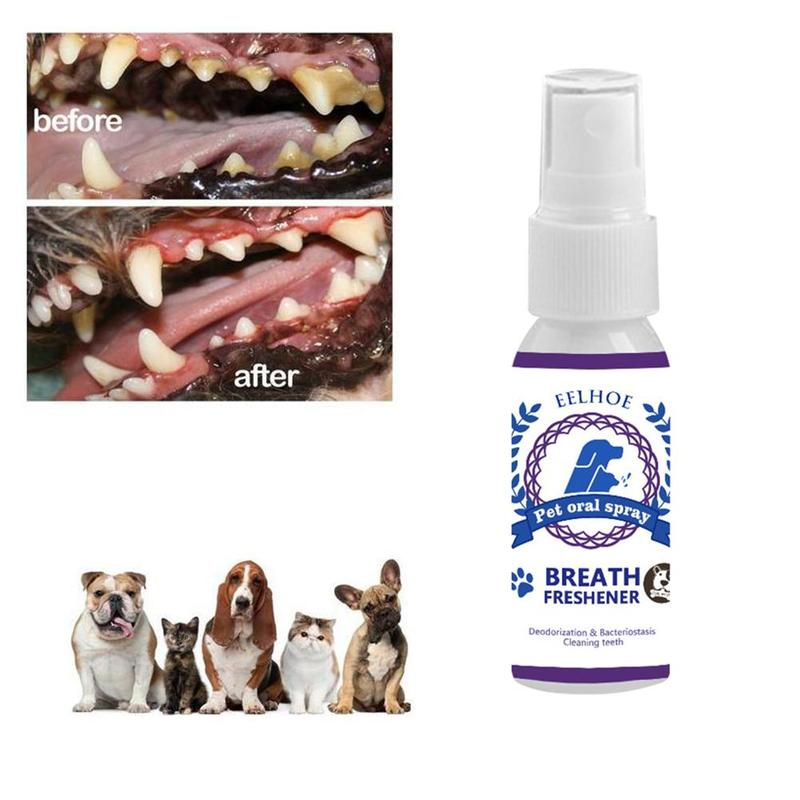 30ml Pet Care Mouthwash Spray Dog Cat Teeth Breath Cleaning Freshener Mouth Cleaner Supplies Of Eliminate Bad Breath And Tartar