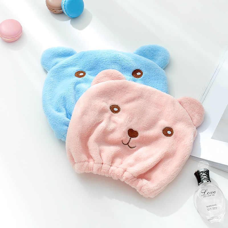 만화 머리 건조 수건 귀여운 성인 두꺼운 목욕 타월 터번 슈퍼 빠른 흡수 Dri Microfib 착용 가능