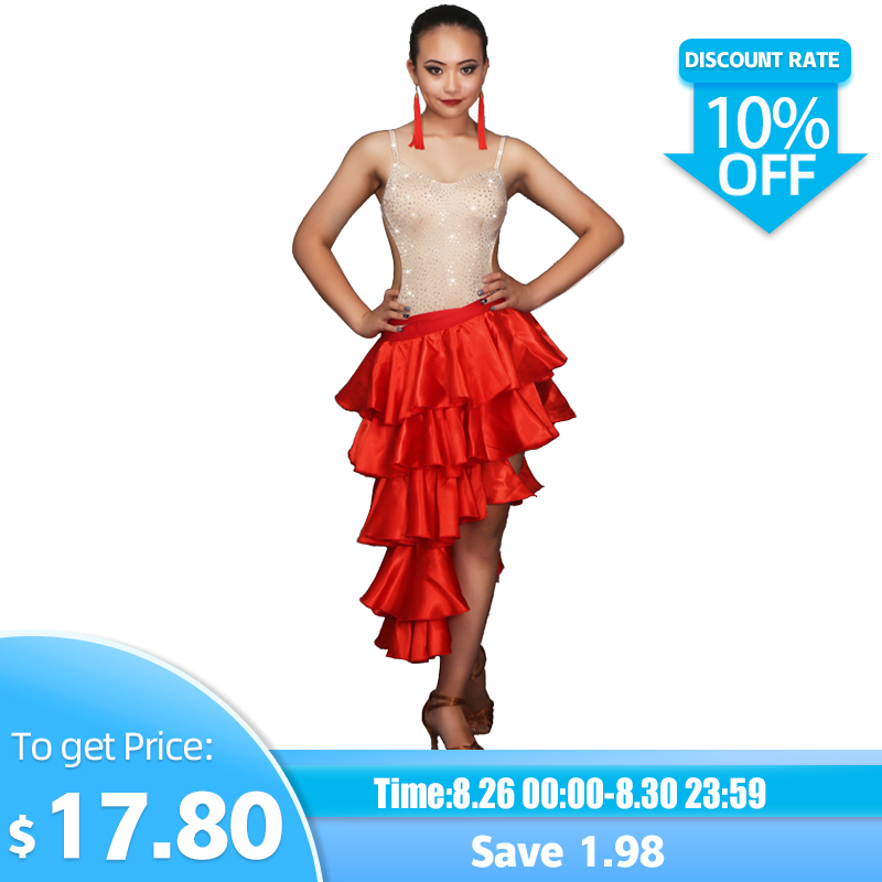 Professional Customizable Girl Latin Dance Costumes Senior Sexy Stones Latin Dance Dress For Women Latin Dance Compeititon Dress