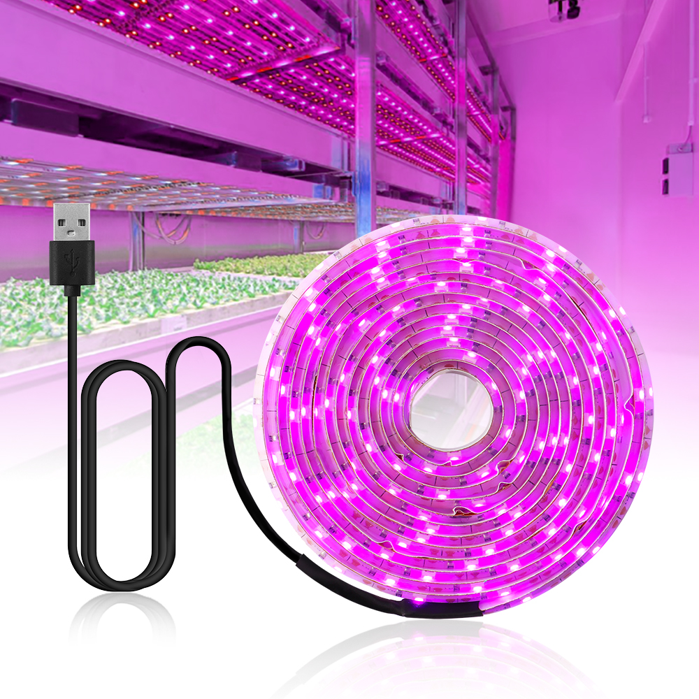 LED Grow Light Full Spectrum USB Grow Light Strip 2835 LED Phyto Lamps For Indoor Flower Seed Hydroponic Plant Growing Lamp
