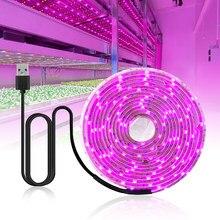 Lâmpada led de espectro total, luz usb para crescimento, lâmpadas phyto 2835 para cultivo de plantas hidropônicas lâmpada de luz