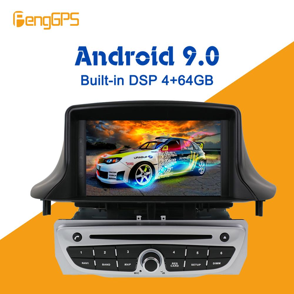 Android 9.0 PX5 4+64GB car DVD player Built-in DSP Car multimedia Radio For Renault <font><b>Megane</b></font> <font><b>3</b></font>/Renault Fluence 2009+<font><b>GPS</b></font> Navigation image