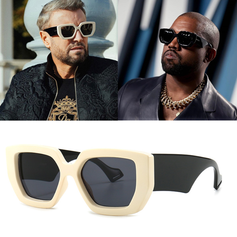 Óculos de sol masculino estilo polygon, óculos escuro feminino de luxo, vintage, proteção uv400 2020