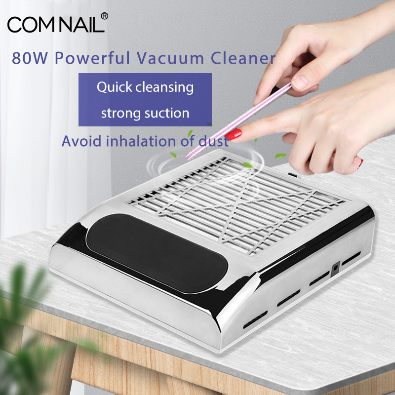 Powerful Vacuum Cleaner For Manicure Hood Machine Nail Dust Suction Collector Vacuum Cleaner For Nails Salon Equipment