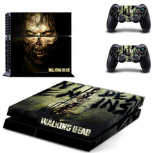 The Walking Dead PS4 Stickers Play station 4 Skin Sticker Game Decals For PlayStation 4 PS4 Console & Controller Skins Vinyl